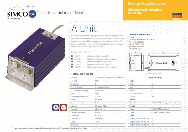 A2A7S Elektrostatik Netzteil Antistatikgerät