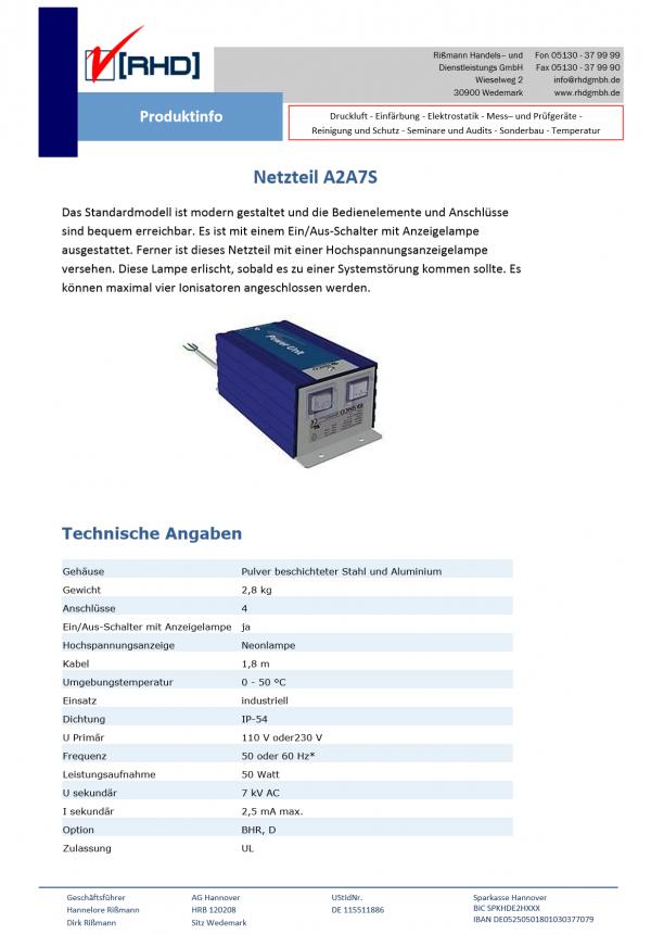 A2A7S Netzteil ES2J Simco Ersatzteil Online