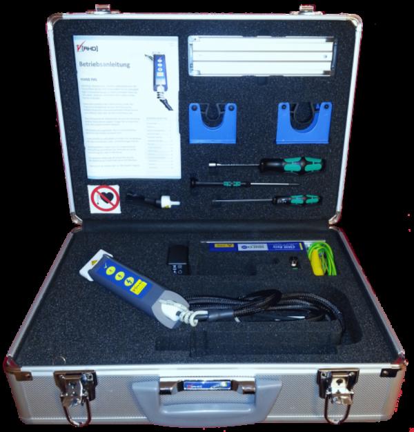 IML Testgerät Etiketten In Mould Labeling testen Koffer Elekrostatik