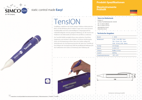 SIMCO ION Deutschland günstig Online kaufen TensION Messinstrument Elektrostatik
