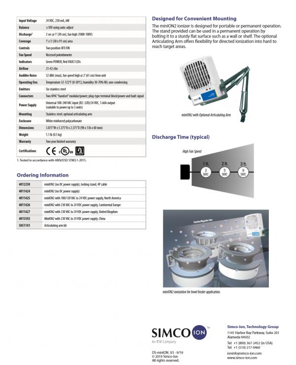 SIMCO ION Online bestellen Statische Aufladung Kunststoffproduktion