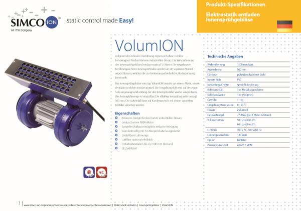 VOLUMION Ionengebläse SIMCO Ion Online bestellen